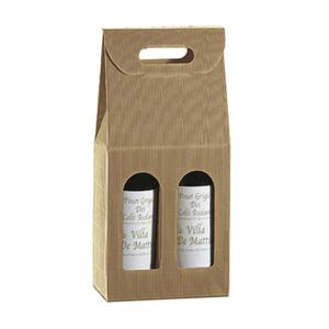 Scatola in cartone porta bottiglie 18x9xH34cm