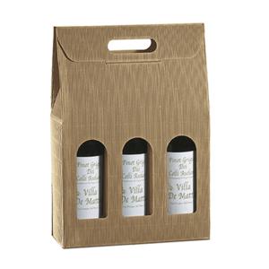 Scatola in cartone porta bottiglie 27x9xH34cm