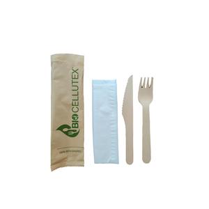 Set Posate in legno (forchetta+coltello+tovagliolo 2V)