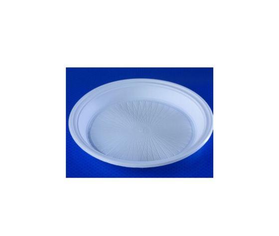 Piatto fondi in plastica bianchi