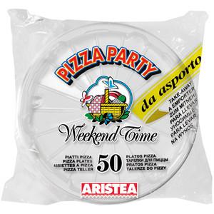 200 Piatti monouso per pizza bianchi 2450cc