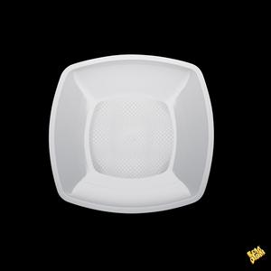 Piatto piano quadrato bianco 23cm 500cc - 300pz