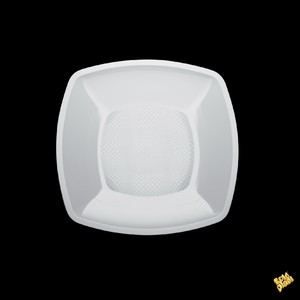 Piatto dessert bianco quadrato 18cm 300cc - 300pz