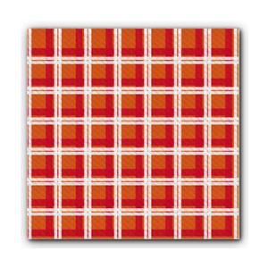 Tovaglie carta 100x100cm arancione/rosso - 250pz