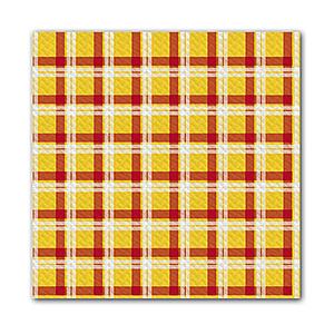 Tovaglie carta 100x100cm giallo/rosso - 250pz