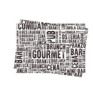 """Tovagliette carta 30x40cm """"Gourmet"""" - 250pz"""