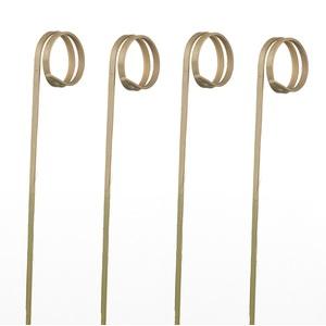 """Spiedi in bamboo """"Ricciolo"""" 12cm - 5000pz"""