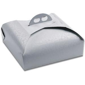 25 pz - Scatole porta torte quadrate Bianco Ramage