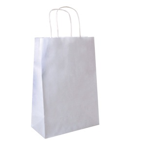 250pz Shoppers in carta bianche 26+14x32cm