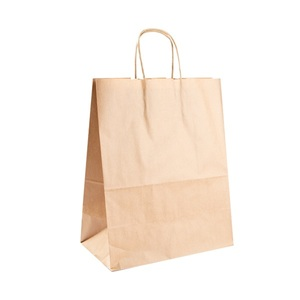 250pz Shoppers in carta avana 32+16x43cm