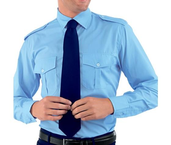 Camicia pilota uomo azzurra isacco 062810
