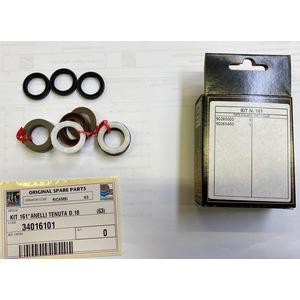 INTERPUMP KIT 161 POMPA GUARNIZIONE KIT per 18 mm PISTONE