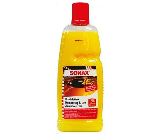 Ct 6 sonax shampoo e cera concentrato 1l