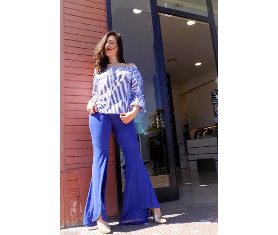 Pantalone blu a zampa 2