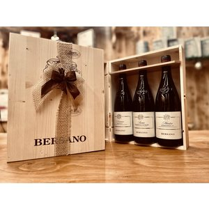 Cassetta Legno 3 Bottiglie Bersano Barolo Nirvasco-Paisan Nebbiolo d'Alba- Barbaresco Mantico