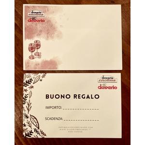 Buono Regalo Gift Card Daverio Enoteca-Daverio Bevande
