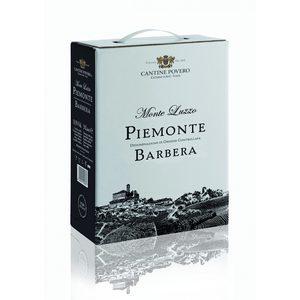Monteluzzo Piemonte DOC Barbera 2019 Cantine Povero bag-in-box 3 litri