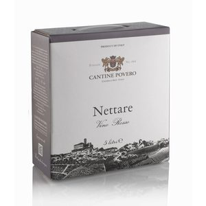 Nettare Vino Rosso da Uve Nebbiolo Bag-in-box 5 litri Cantine Povero