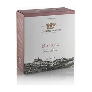 Borioso Vino Rosso da Uve Bonarda  Bag-in-box 5 litri Cantine Povero