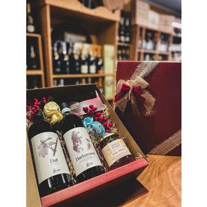 BOX OSSOLA  Barbarossa Vino Rosso Valli Ossolane DOC e But Vino Bianco La Cantina di Tappia + Miele Alveare Ossolano