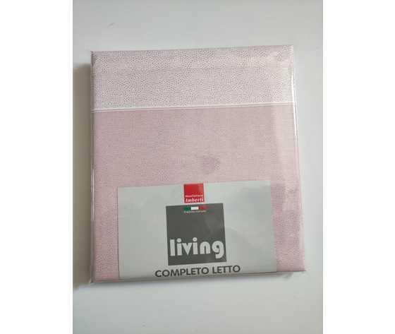 Lenzuola matrimonile living borbonese rosa