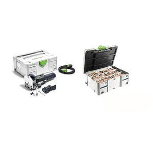 Festool Fresatrice per giunzioni DF 500 Q-Plus DOMINO +ASSORTIMENTO TASSELLI E FRESE