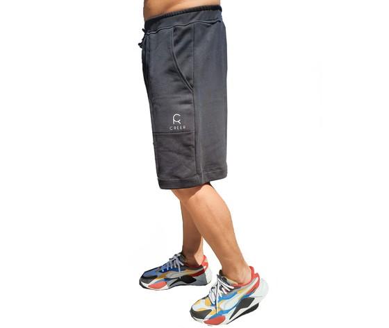 Shorts uomo nero profilo