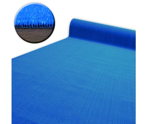 Prato blu con spessore