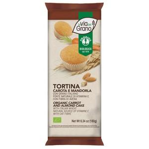 TORTINA CAROTA E MANDORLE La via del grano 180g