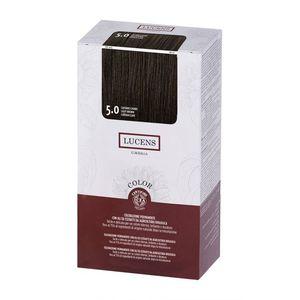 Tinta per capelli Color 5.0 castano chiaro Lucens Umbria 135 ml
