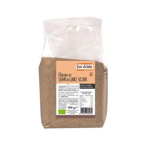 Farina di semi di lino scuri Fior di Loto 400 g