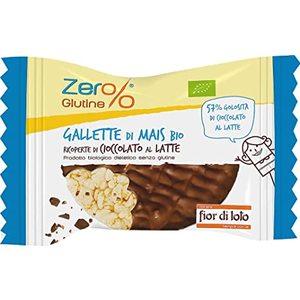 Gallette di mais ricoperte di cioccolato al latte 30 g Zer%glutine