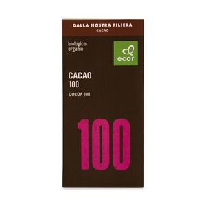Cioccolato extra 100% cacao di Filiera Ecor 80 g