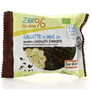 Gallette di mais ricoperte di cioccolato fondente Zer%glutine 32g