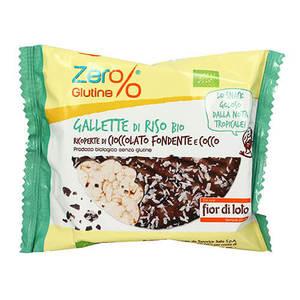 Gallette di riso con cioccolato fondente e cocco Zer%glutine 33g