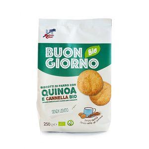 Biscotti di farro con quinoa e cannella Buongiorno Bio La Finestra sul Cielo 250 g