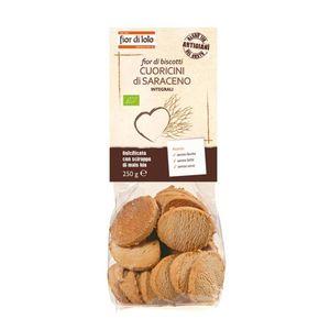 Fior di Biscotti Cuoricini di grano saraceno Fior di Loto Conf. 250 g scadenza 27/04/2022
