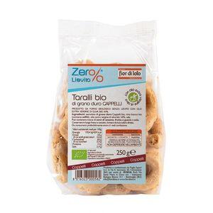 Taralli di grano duro Cappelli Zero% Lievito Fior di Loto 250 g scadenza 02/02/2022