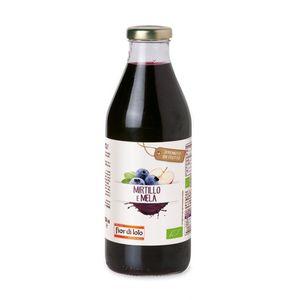Succo di mela e mirtillo Fior di Loto Conf. 750 ml scadenza 12/08/2023