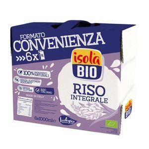 Bauletto Family Pack Riso Integrale Isola Bio 6 x 1 L scadenza 05.06.2022