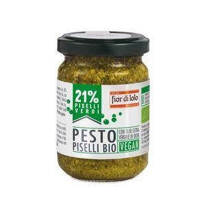 Pesto al basilico 21% piselli con anacardi Fior di Loto 130 g scadenza 30/01/2023