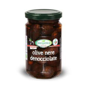 Olive nere denocciolate in salamoia Biorganica Nuova 280 g - 160 g sgocc.