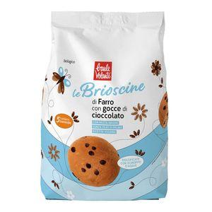 Le Brioscine di farro con gocce di cioccolato Baule Volante Conf. 5 x 40 g Scadenza 30/11/2021
