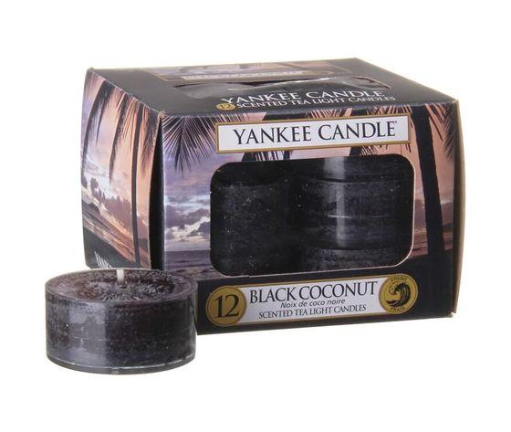 Yankee candle tea lights black coconut