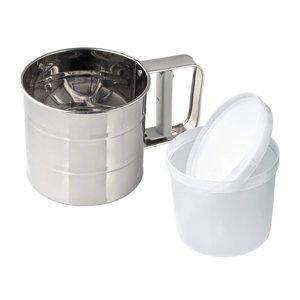 Spargi farina/zucchero acciaio inox con contenitore incluso. Capacità 360 grammi.
