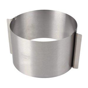 Anello per torte acciaio inox adattabile extra alto 18cm-diametro da 16 a 30cm