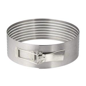 Affettatorte regolabile in acciaio inox. 8 strati diam da 26 a 28cm