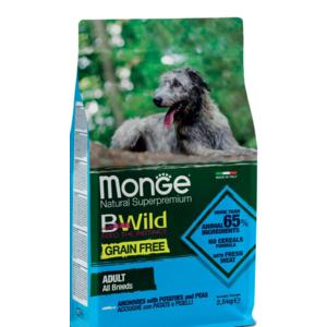 Monge BWild Grain Free Adult Acciughe e Patate per Cani