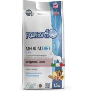 MEDIUM DIET AGNELLO 1,5 KG FORZA 10