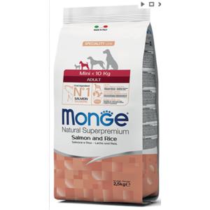 MONGE MINI ADULT <10KG SALMONE 2,5 kg